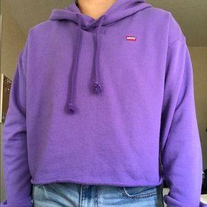 levi's crop hoodie